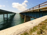 Looking W. New Seven Mile Bridge is on the left and Old Seven is on the right.