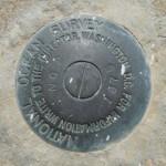 NOS Tidal Bench Mark Disk 872 3868 TIDAL 2