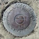 NOS Tidal Bench Mark Disk 872 3776 TIDAL 3