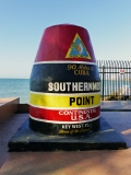The concrete buoy marking the southernmost point in the continental U.S.