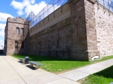 View of the NW corner of the jail.