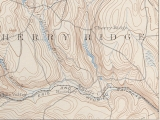 1892 topo map; station above 'y' in Hoadley?