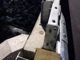 Eyelevel view of the disk on the bridge headwall.