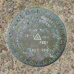USGS Bench Mark Disk RESET 1950