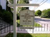 Sign indicating correct church name