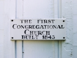 Sign indicating date of establishment