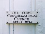 Sign indicating date of establishment