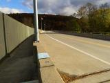 Looking NE along Falls bridge, PA Route 92.