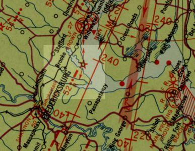Air Navigation Map No. 59, Washington, D.C. to Savannah, Ga., 1936