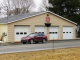 The fire house is still directly across Route 79 from the mark.