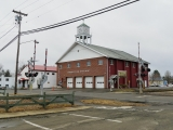 The 1966 wreck occurred at this crossing. Note the new fire house across the street.