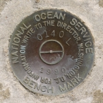 National Ocean Service Tidal Bench Mark Disk 841 0140 L TIDAL