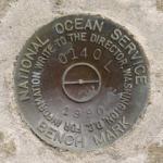 National Ocean Service Tidal Bench Mark Disk 841 0140 L TIDAL