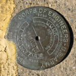 Army Corps of Engineers Survey Mark DOCK