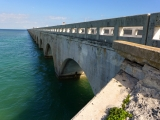 Looking NE along the old Seven Mile Bridge.