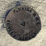 Florida DOT Tidal Bench Mark Disk 872 4353 E TIDAL