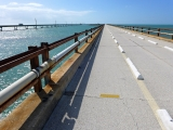 Looking W along the Old Seven Mile Bridge