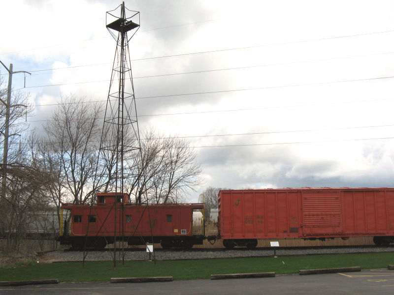 The beacon in its new location at the rail museum