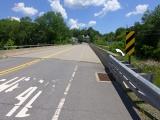 Looking NE along the bridge over the Lackawaxen River. View toward Route 6.