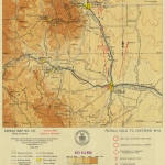 1930 Pueblo—Cheyenne: Excerpt of a beautiful hand-drawn map