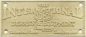 IDECO Builders Plate