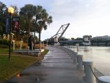 View of the Cass St. drawbridge from the River Walk
