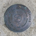 National Ocean Service Tidal Bench Mark Disk 841 3320 TIDAL G